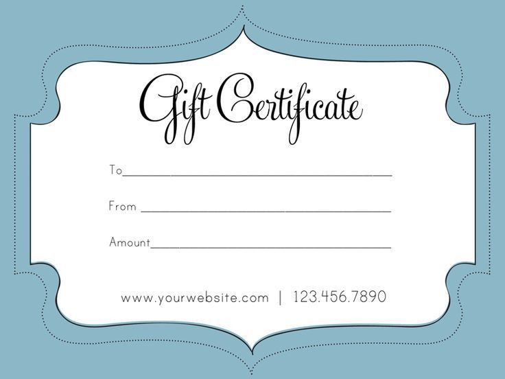 free gift certificate templates for word - Template