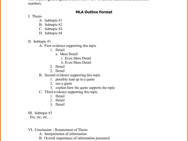 Example Of An Essay Outline Format | haadyaooverbayresort.com