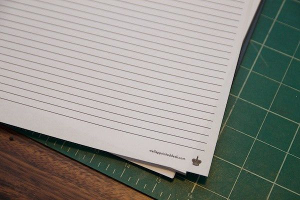 Turn a Blank Notebook into a Lined Notebook – The Well-Appointed Desk