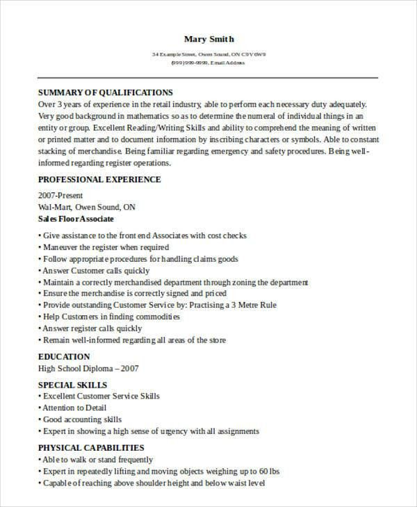 51+ Sales Resume Examples | Free & Premium Templates