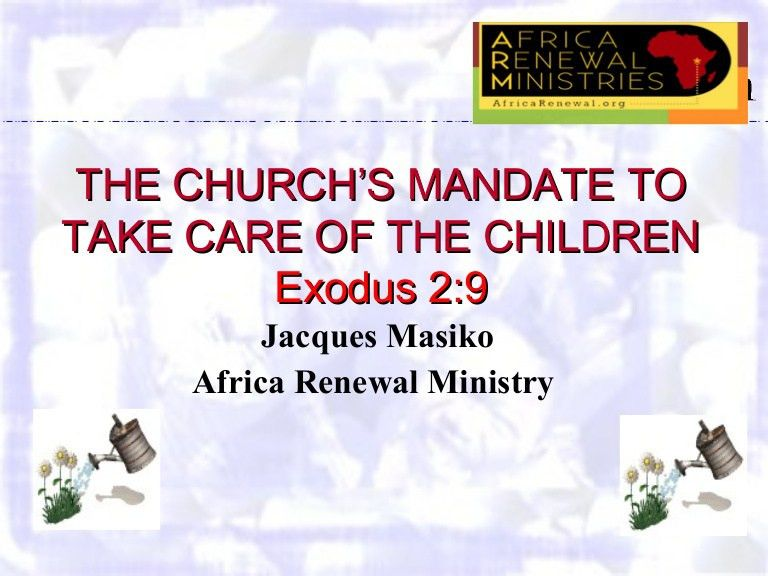 Role and response of the church child advocacy: The Church's mandate…