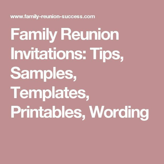The 25+ best Family reunion invitations ideas on Pinterest ...