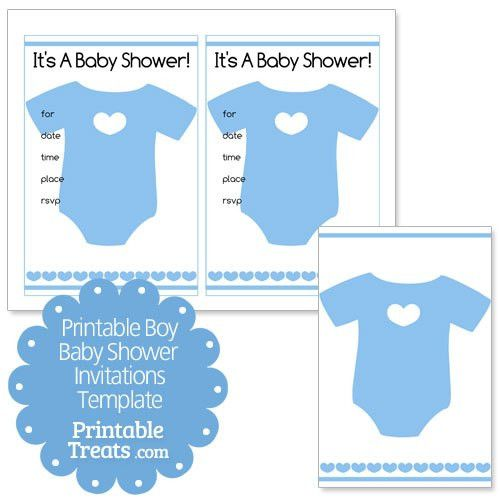 Printable Baby Boy Shower Invitations Template — Printable Treats.com