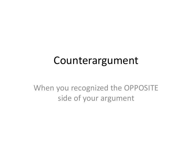 Counterargument examples