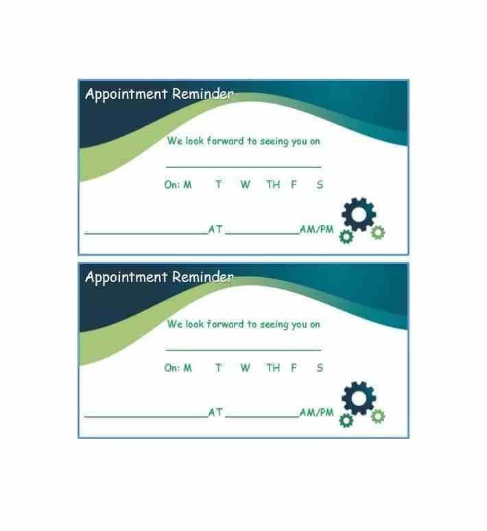 Reminder Card Template - Ecordura.com
