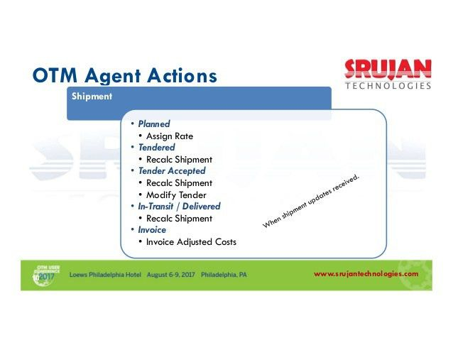 OTM: Know more on Order, Shipment & Invoice Modification Agents