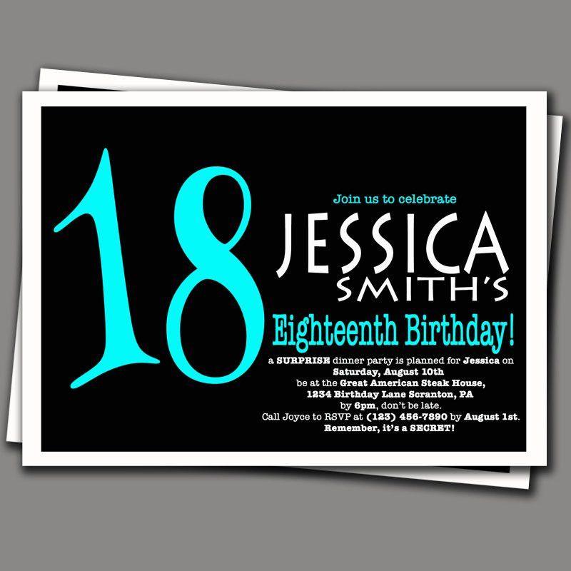 Birthday Invites: Enchanting 18Th Birthday Party Invitations Ideas ...