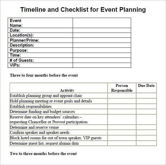 10+ Event Planning Checklist Templates - Free Sample, Example, Format
