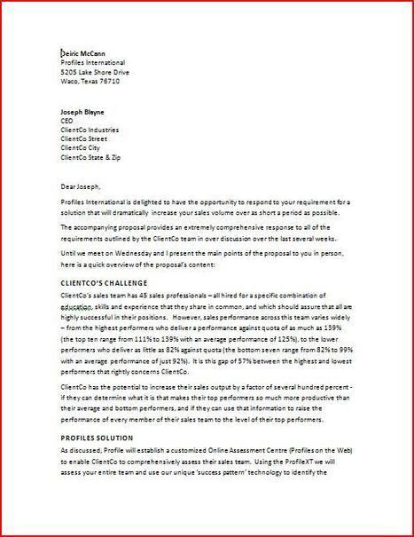 Cover Letter For Proposal From Testing Consultant Cover Letters ...