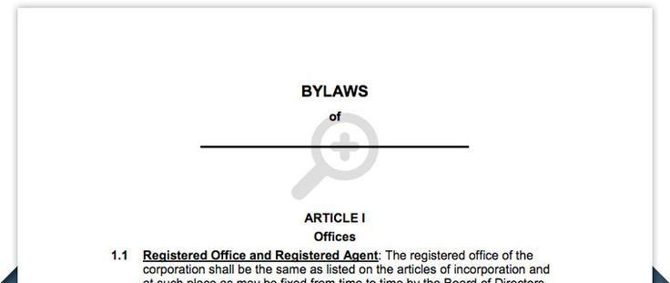 Free Corporation Bylaws - Corporate bylaws template | Business ...