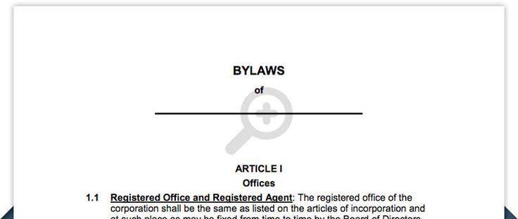 Bylaws Template. bylaws template bylaws governing laws allen isd ...
