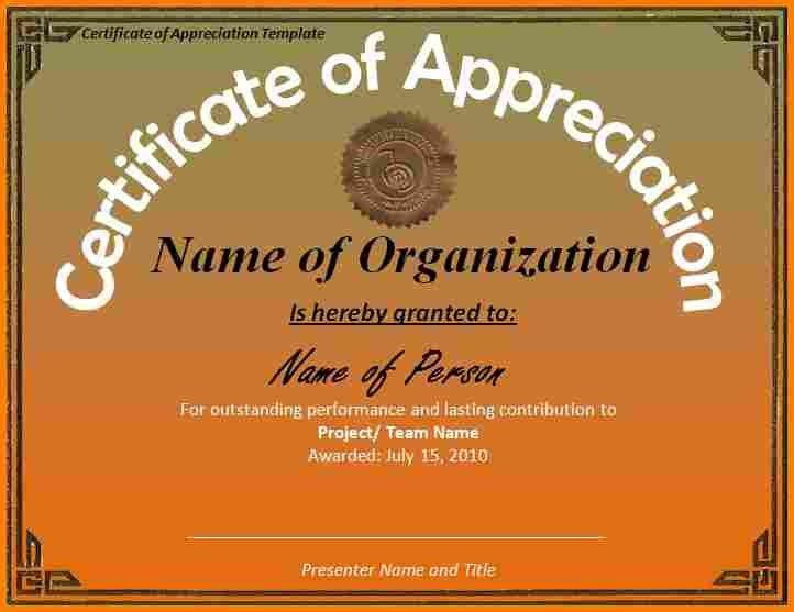 10+ certificate of appreciation word template | resume reference