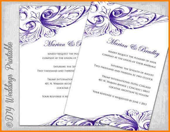 11+ downloadable wedding invitations templates | artist resume