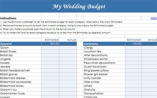 Bride-To-Be: Got the Budget Blues? Create A Realistic Wedding ...