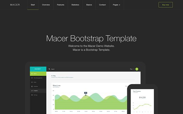 Macer - App Landing Page Template | Bootstrap Business & Corporate ...