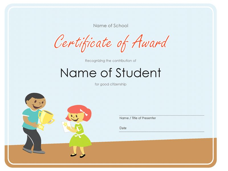 Certificate, Employee of the month (gray chain design) - Office ...