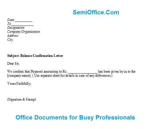 Confirmation Letter Archives - SemiOffice.Com