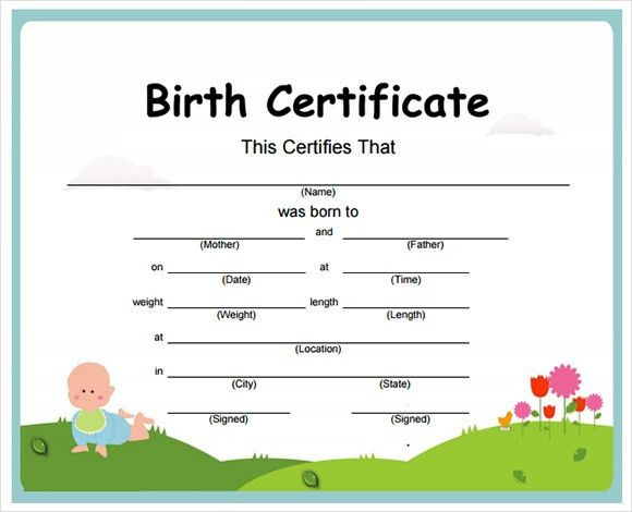 7+ Birth Certificate Templates – Free Examples , Samples , Format