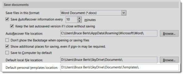 Where Are Custom Templates Stored For Microsoft Office? | Bruceb News