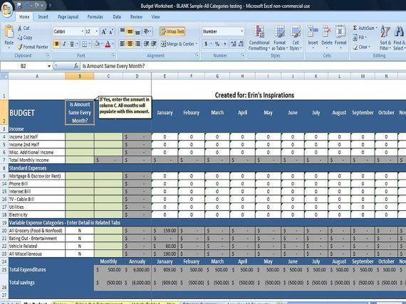 The 25+ best Budget spreadsheet ideas on Pinterest | Excel budget ...