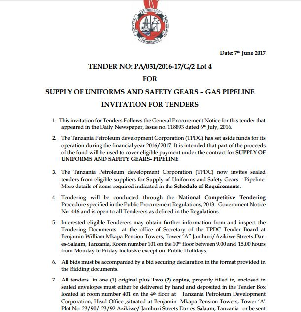 oilnewskenya | TENDERS * oilnewskenya