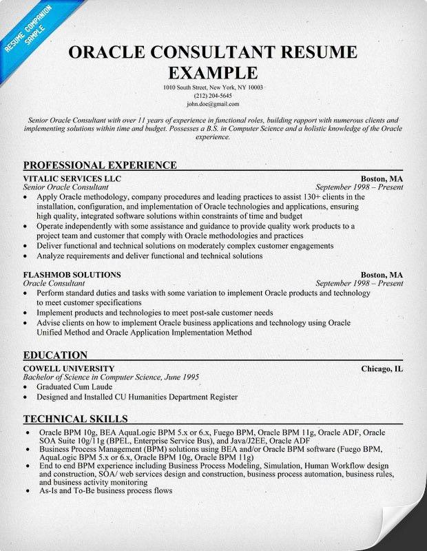 Bpm Consultant Sample Resume Business Process Consultant Sample - sample personal protection consultant resume