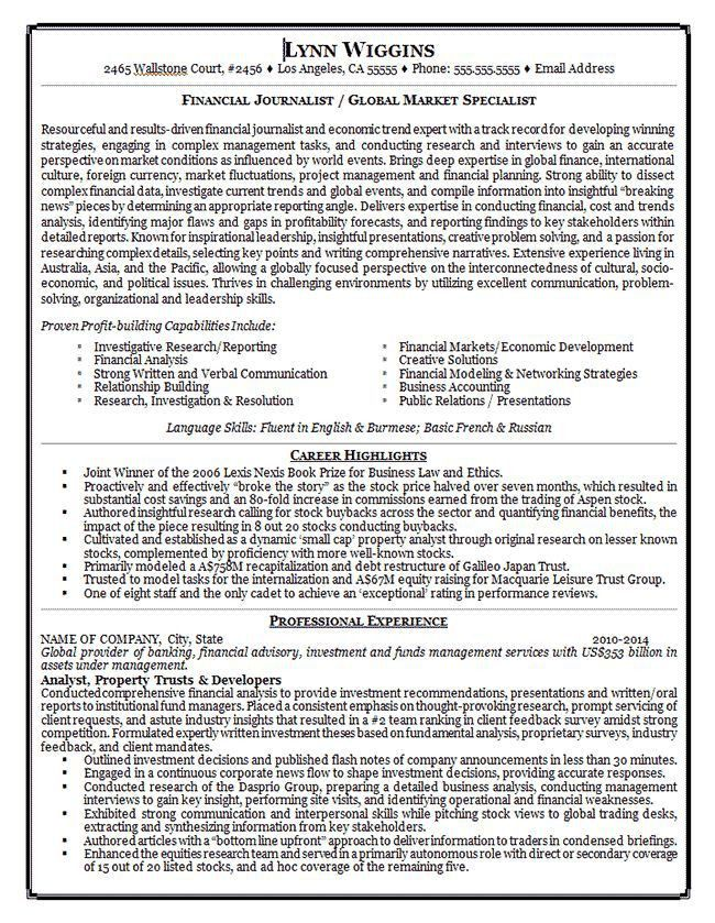 266 best Resume Examples images on Pinterest   Resume examples ...