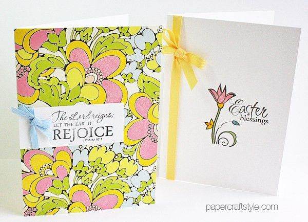 Handmade Religious Easter Cards featuring Verve Stamps and Anna ...