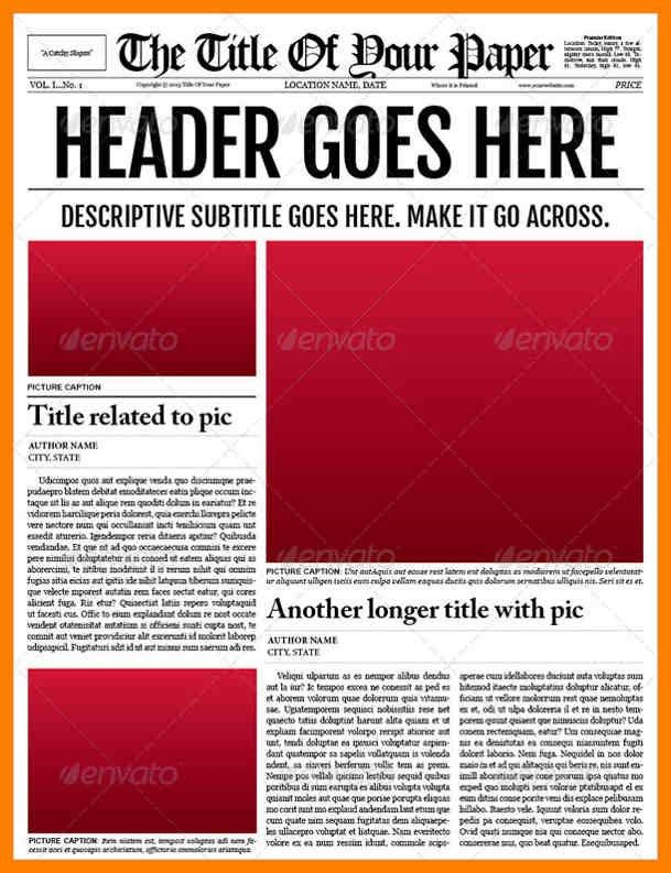 4+ blank newspaper template microsoft word | aplication format