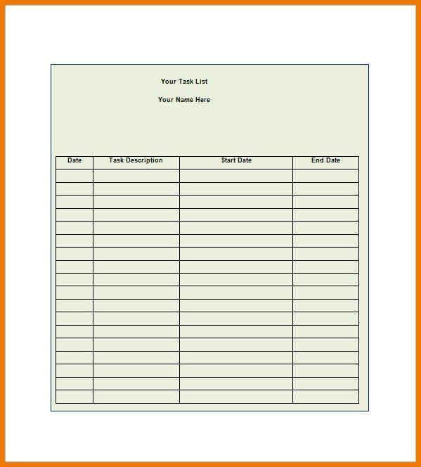 8+ task sheet example | postal-carrier
