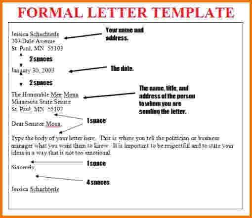 8+ formal letter format sample for student   Financial Statement Form