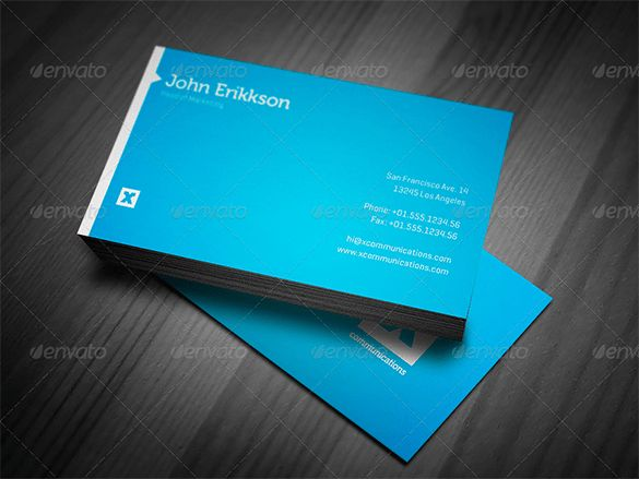 21+ Blue Business Cards – Free Printable PSD, EPS, Word, PDF ...
