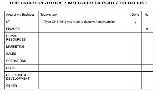How do I plan my daily, weekly, monthly business To Do list ...