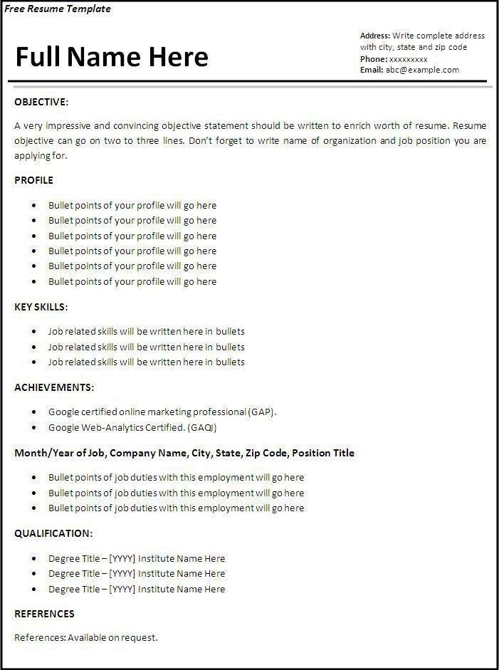 How To Write A Resume For The First Time | The Best Letter Sample