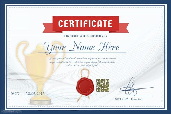 Award certificate template for schools and sport clubs | PosterMyWall