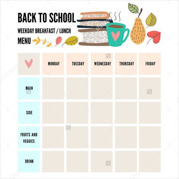 8+ Preschool Menu Templates - PSD, Vector EPS, AI Illustrator ...