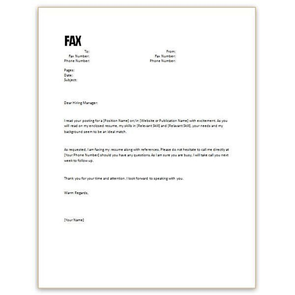 sample cover letter for resume - Template