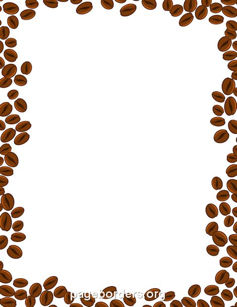 Printable coffee beans border. Use the border in Microsoft Word or ...