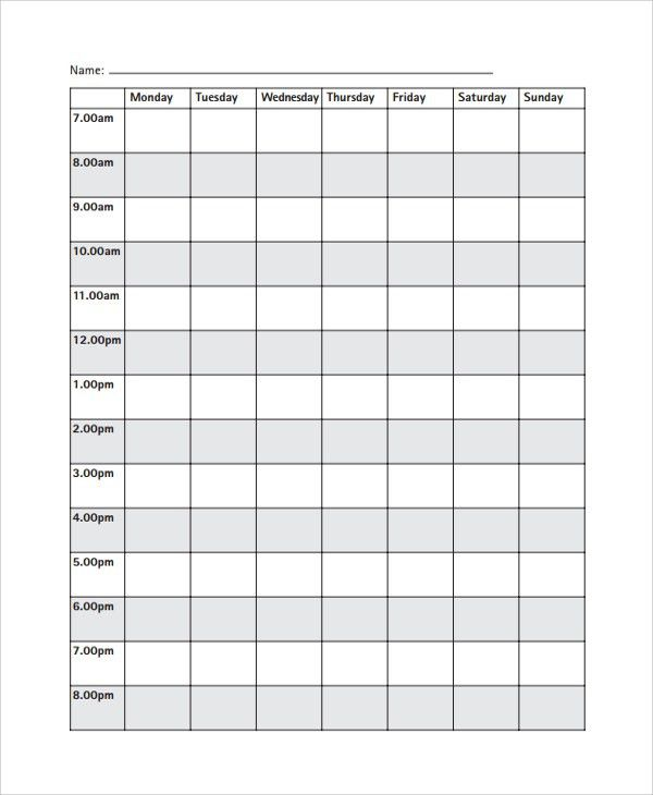 Timetable Template  Timetable Templates Free Sample Example