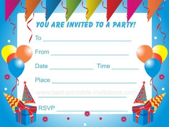 Birthday Party Invitation - vertabox.Com