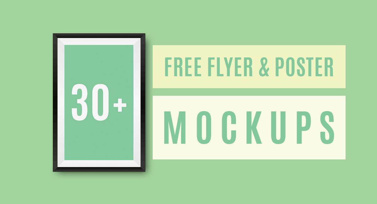 30+ Free Flyer & Poster PSD Mockups Templates | Pixlov