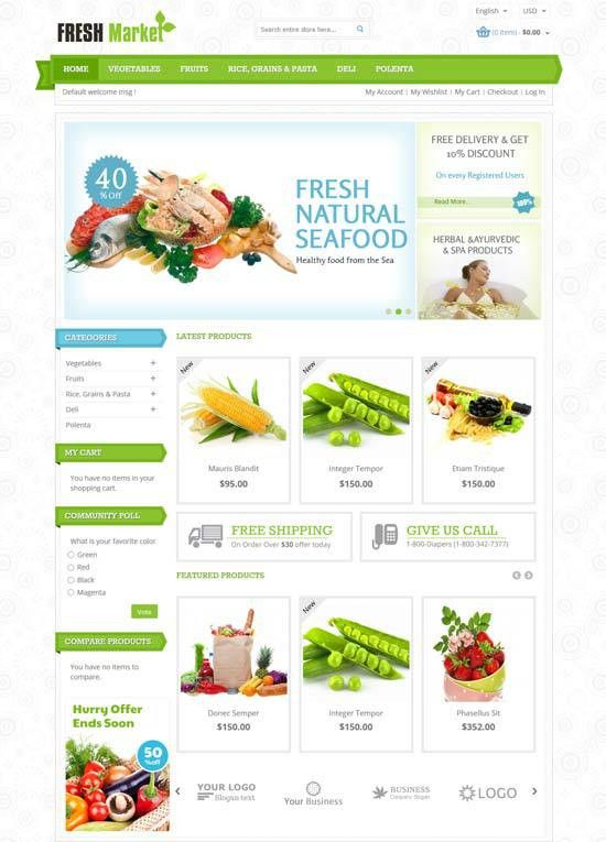 30+ Best Food & Drink Magento Themes 2017 - freshDesignweb