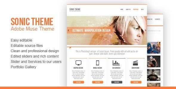 PSD Adobe Muse Themes & Muse Templates from ThemeForest