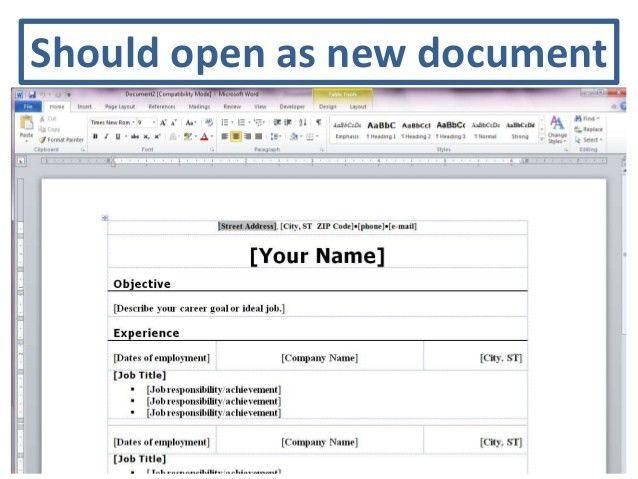 Download Word Resume Template 2010 | haadyaooverbayresort.com
