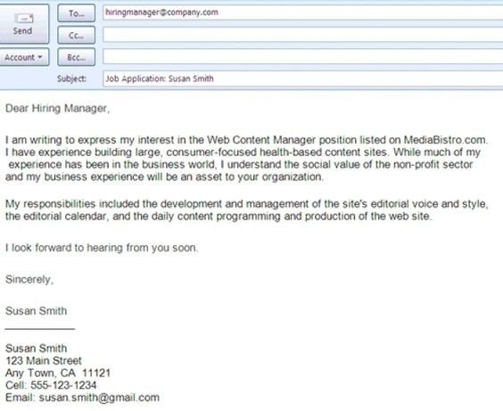 Sample Email For Job Application With Resume | | amplifiermountain.org