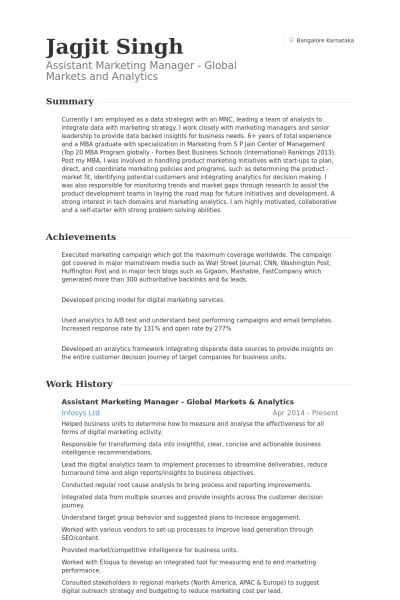 sample online marketing manager resume digital marketing manager