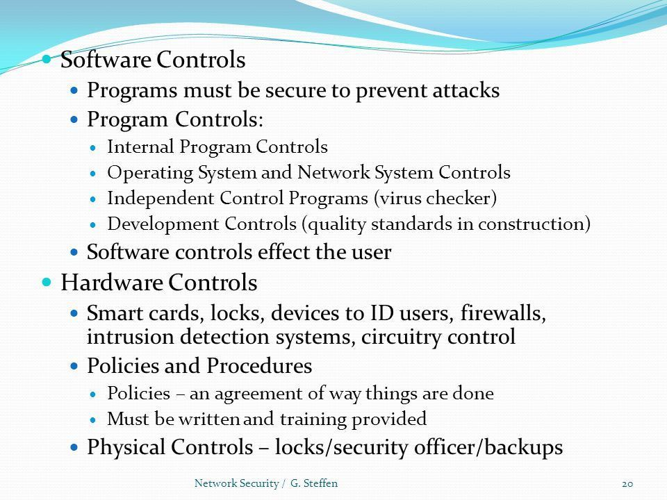 Is There a Security Problem in Computing? Network Security / G ...