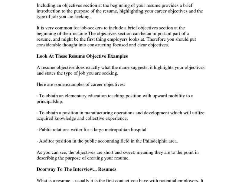 public relations objective resume. good resume objectives ...