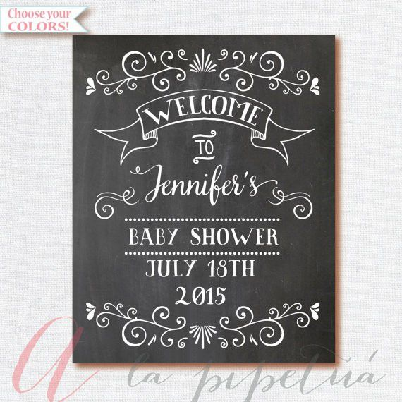 Welcome Baby Shower Sign. Chalkboard Welcome by AlapipetuaDesign ...