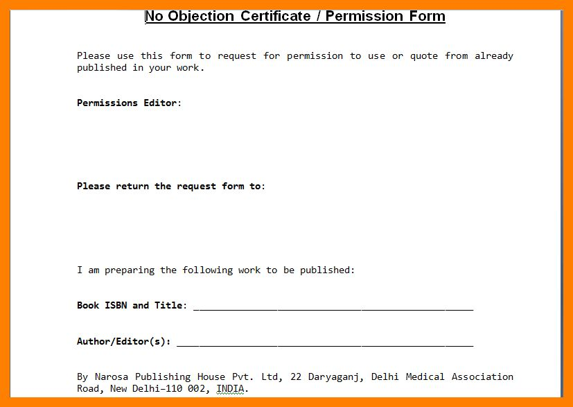 8+ no objection certificate sample | pattern resume